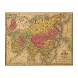 Asia 14 wood print