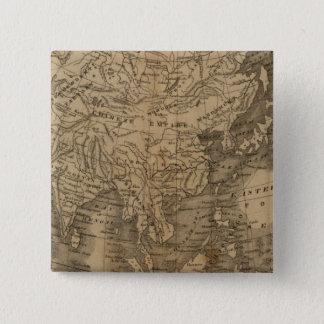 Asia 15 Cm Square Badge