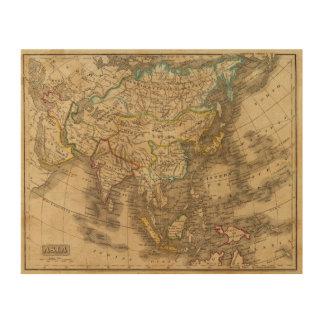 Asia 19 wood print