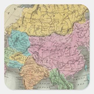 Asia 26 square sticker