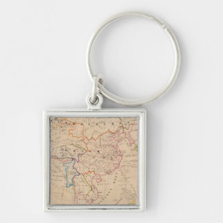 Asia 30 Silver-Colored square key ring