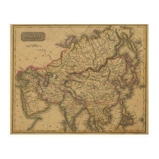 Asia 34 wood print