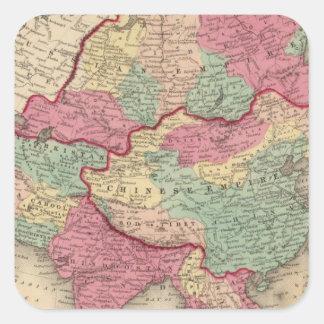 Asia 43 square sticker