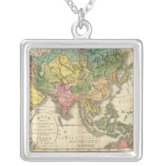 Asia and Empire of Genghis Kahn Silver Plated Necklace