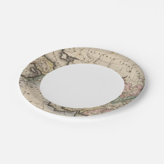 Asia Atlas Map 7 Inch Paper Plate