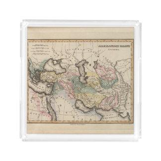 Asia Atlas Map Acrylic Tray