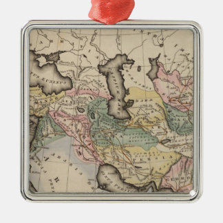 Asia Atlas Map Christmas Ornament