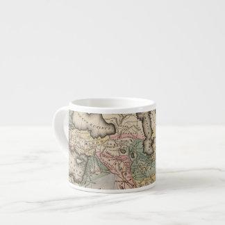 Asia Atlas Map Espresso Cup
