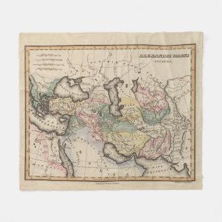Asia Atlas Map Fleece Blanket