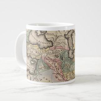 Asia Atlas Map Large Coffee Mug