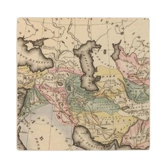 Asia Atlas Map Wood Coaster