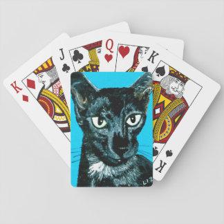 ~Asia ~ black smoke Oriental cat ~ Playing Cards