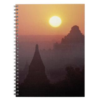 Asia, Burma, (Myanmar), Pagan (Bagan) The temple Notebook