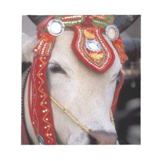 Asia, Burma (Myanmar) Shinbyu ceremony. Bull Notepad