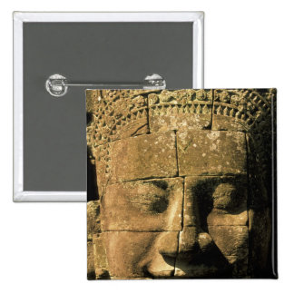 Asia, Cambodia, Siem Reap. Angkor Thom, heads of 2 15 Cm Square Badge