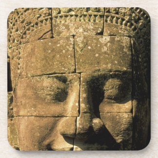 Asia, Cambodia, Siem Reap. Angkor Thom, heads of 2 Drink Coaster