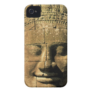 Asia, Cambodia, Siem Reap. Angkor Thom, heads of 2 iPhone 4 Cases