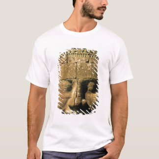 Asia, Cambodia, Siem Reap. Angkor Thom, heads of 2 T-Shirt