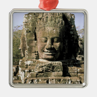 Asia, Cambodia, Siem Reap. Angkor Thom, heads of Christmas Ornament