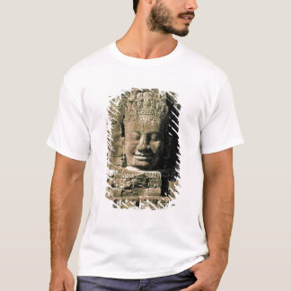 Asia, Cambodia, Siem Reap. Angkor Thom, heads of T-Shirt