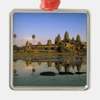 Asia, Cambodia, Siem Reap. Angkor Wat. 2 Christmas Ornament
