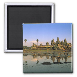 Asia, Cambodia, Siem Reap. Angkor Wat. 2 Square Magnet