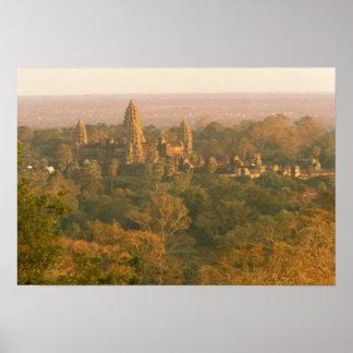 Asia, Cambodia, Siem Reap. Angkor Wat. Poster