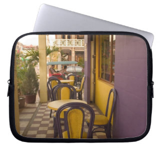 Asia, Cambodia, Siem Reap, coffee shop. Laptop Sleeves