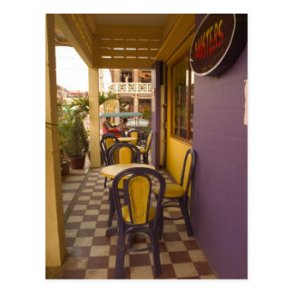 Asia, Cambodia, Siem Reap, coffee shop. Postcard