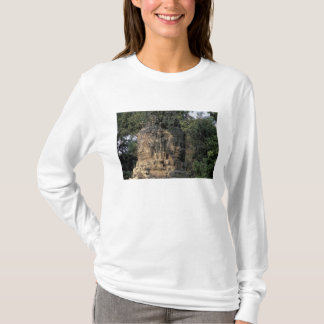Asia, Cambodia, Siem Reap. Huge stone sculptures T-Shirt