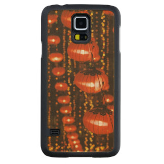 Asia, China, Beijing. Red Chinese lanterns, Carved Maple Galaxy S5 Case