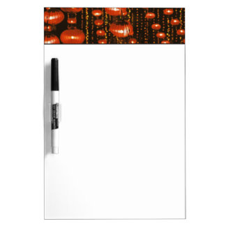 Asia, China, Beijing. Red Chinese lanterns, Dry Erase Board