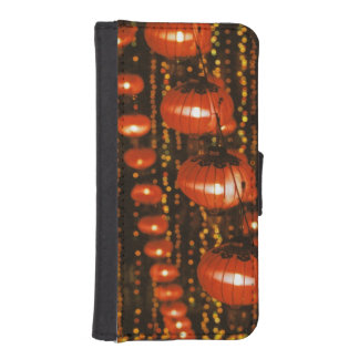 Asia, China, Beijing. Red Chinese lanterns, iPhone SE/5/5s Wallet Case