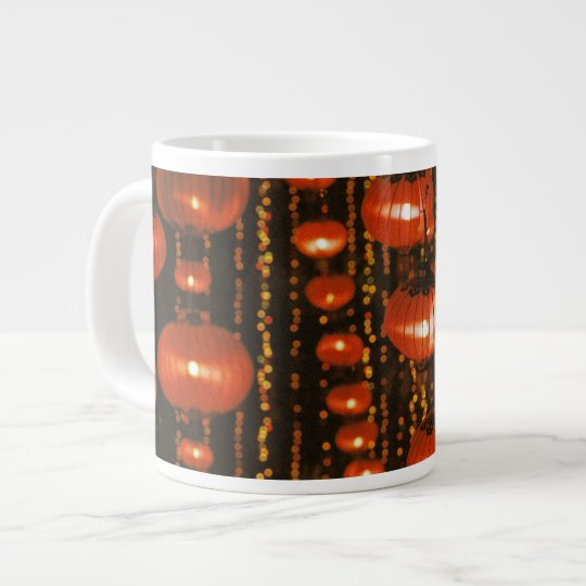 Asia, China, Beijing. Red Chinese lanterns, Large Coffee