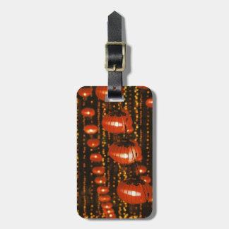 Asia, China, Beijing. Red Chinese lanterns, Luggage Tags