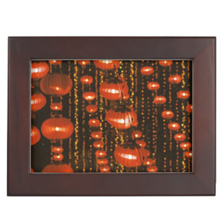 Asia, China, Beijing. Red Chinese lanterns, Memory Box