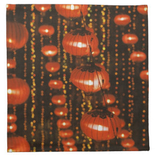 Asia, China, Beijing. Red Chinese lanterns, Napkin