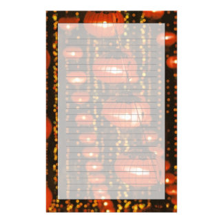 Asia, China, Beijing. Red Chinese lanterns, Personalised Stationery
