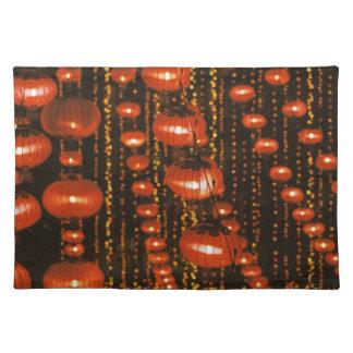 Asia, China, Beijing. Red Chinese lanterns, Placemat