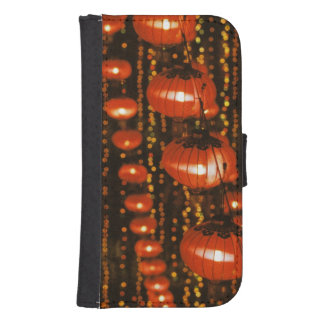 Asia, China, Beijing. Red Chinese lanterns, Samsung S4 Wallet Case