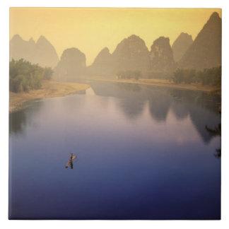 Asia, China, Guangxi Province, Yangshuo. Lone Tile