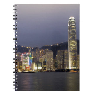 Asia, China, Hong Kong, city skyline and 2 Notebooks