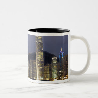 Asia, China, Hong Kong, city skyline and 2 Two-Tone Coffee Mug