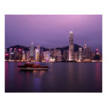 Asia, China, Hong Kong, city skyline and Poster
