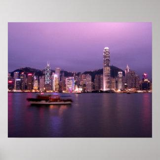 Asia, China, Hong Kong, city skyline and Poster