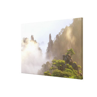 Asia, China, Huanshan. The Yellow Mountain in Canvas Print