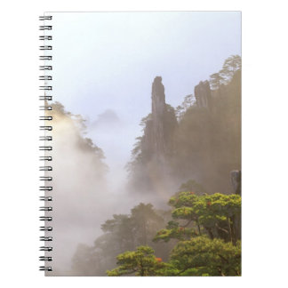 Asia, China, Huanshan. The Yellow Mountain in Spiral Notebook