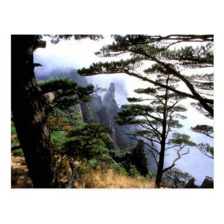 Asia, China, Huanshan. The yellow mountain Postcard