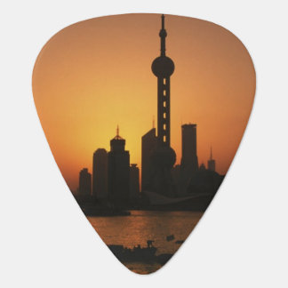 ASIA, China, Shanghai View of Oriental Pearl TV Guitar Pick