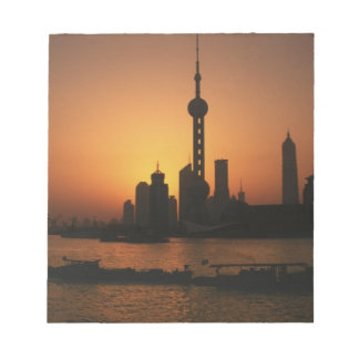 ASIA, China, Shanghai View of Oriental Pearl TV Notepad